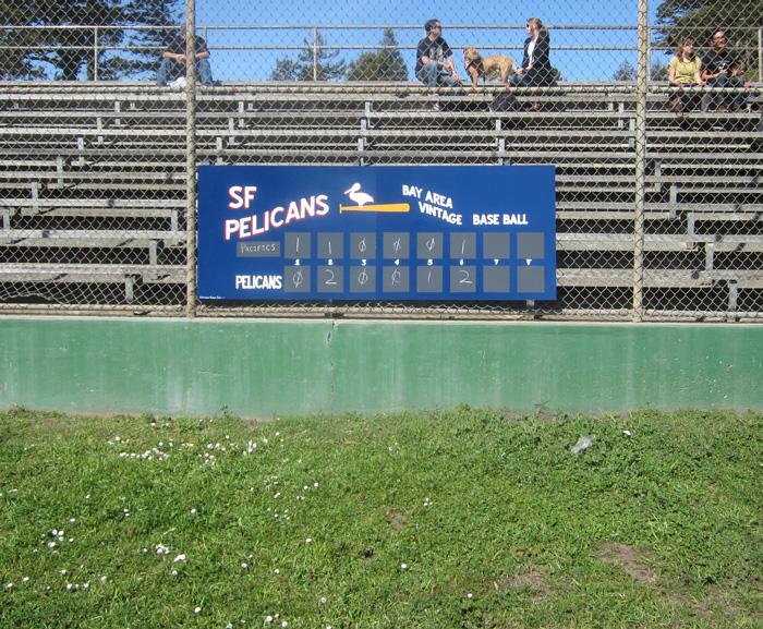 3' x 8' collapsible scoreboard
