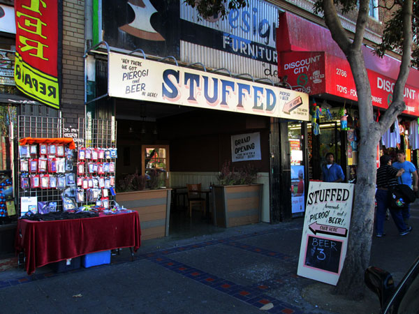 Exterior view of Sandwich board, sign and poster
