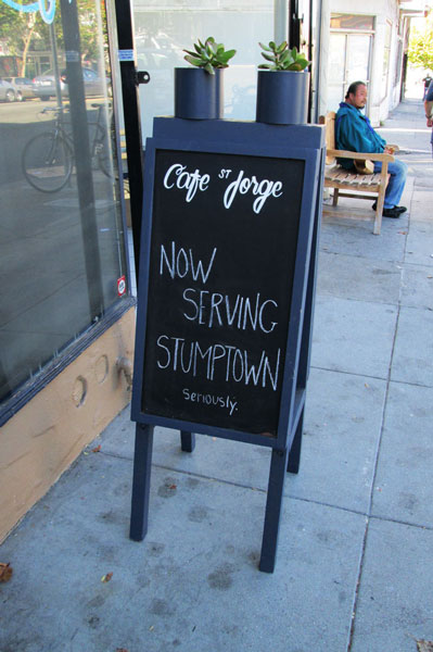 Sandwich Board for Cafe St. Jorge