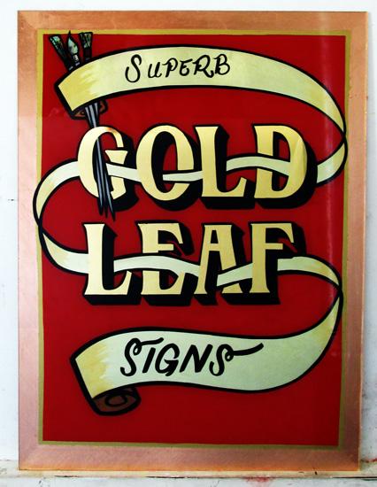 Superb Gold Leaf Signs