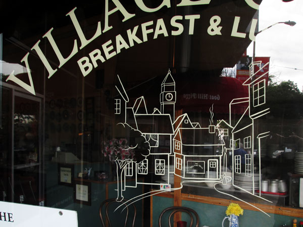 Hand-Lettered-Window-Lettering-Village-Grill-1