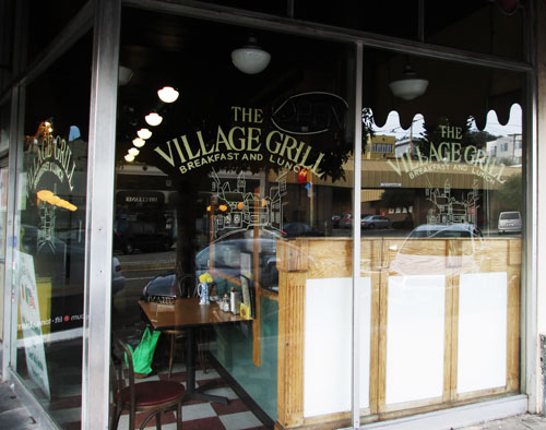 Hand-Lettered-Window-Lettering-Village-Grill-3